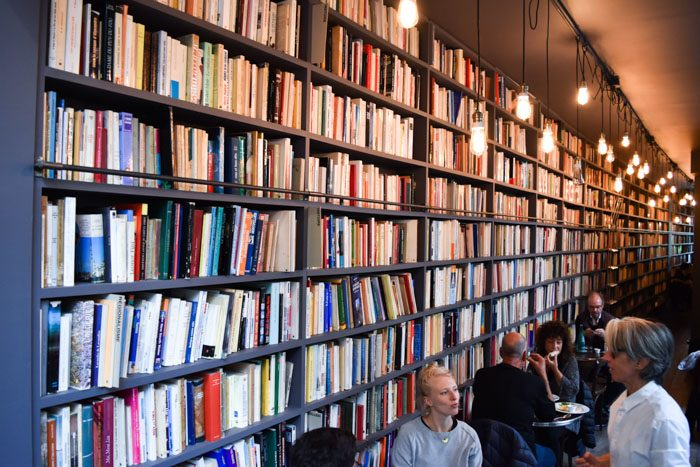 Photo of the interior of Merci Used Book cafe