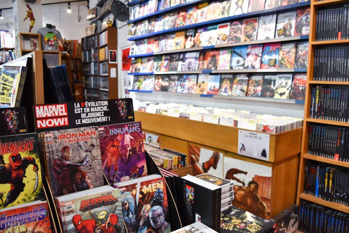 Photo of the interior of Pulp's Comics