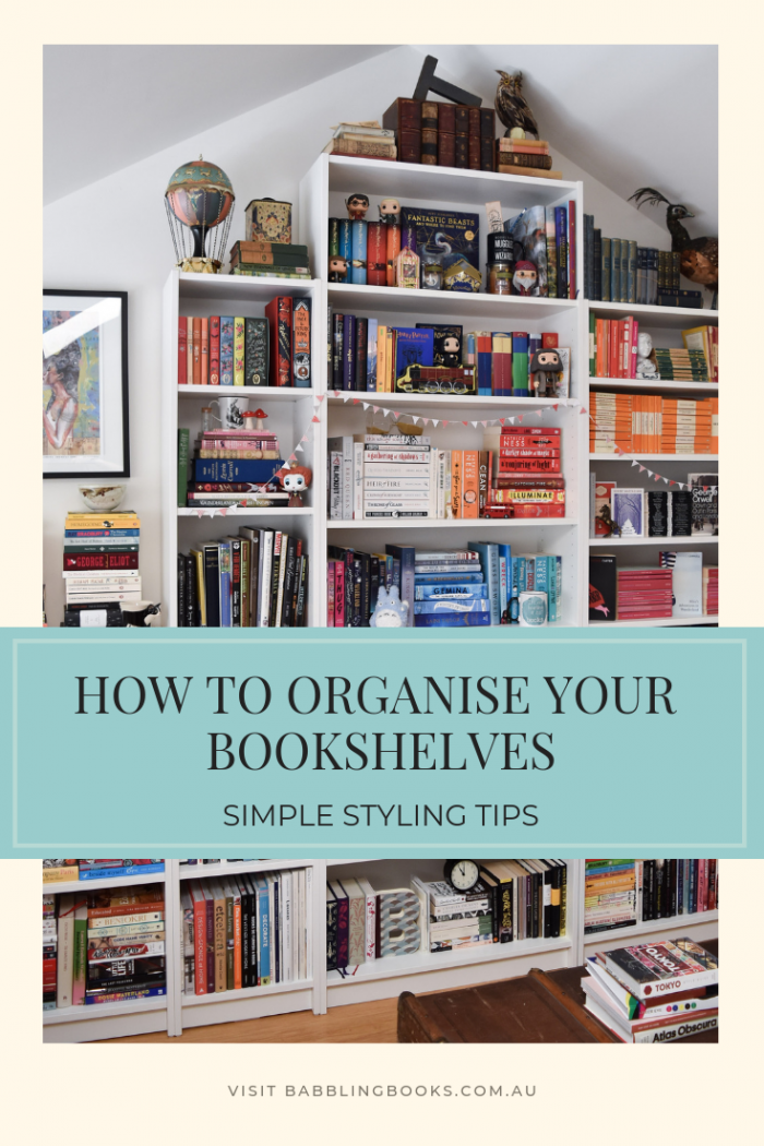How to Organise Your Bookshelves, simple techniques and tips
