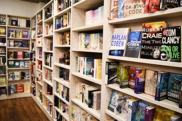 Interior of Book Trading Bookshop in Sofia, Bulgaria