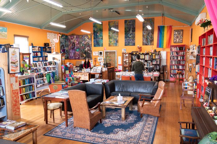Broader view of the main room in Blarney Books and Art.