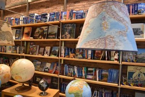 Inside travel bookstore THS