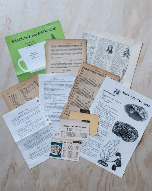 The Chef - Vintage paper pack, assorted vintage cooking themed papers