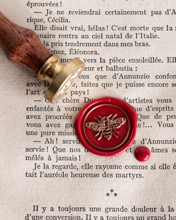 French bee wax seal stamp