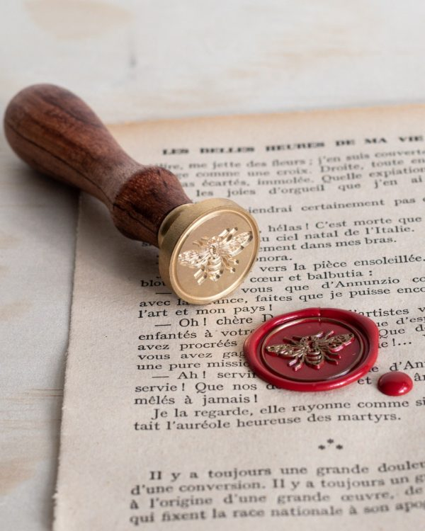Wax seal stamp with bee design