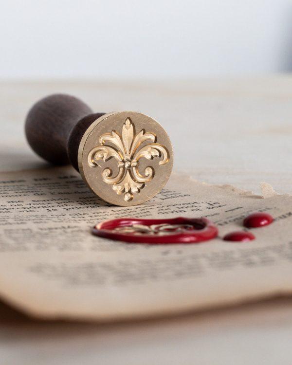 Fleur de lys wax seal stamp