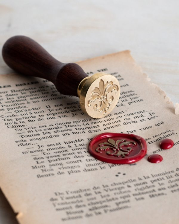 French fleur de lys wax seal stamp
