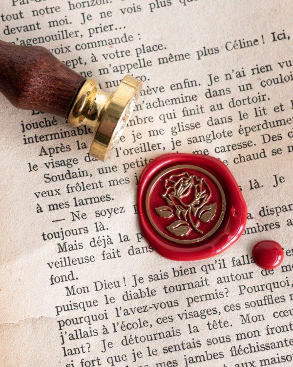 Wax Seal Stamp Rose