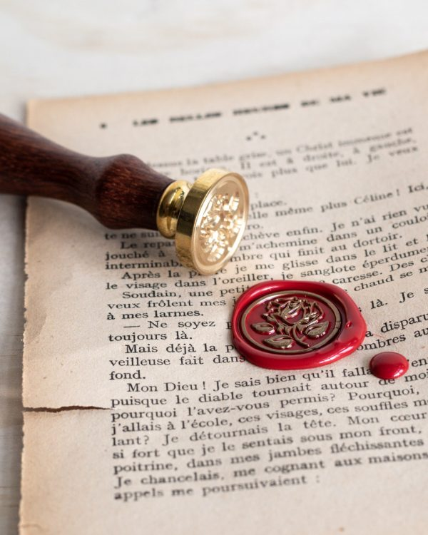 French Rose Wax Seal Stamp