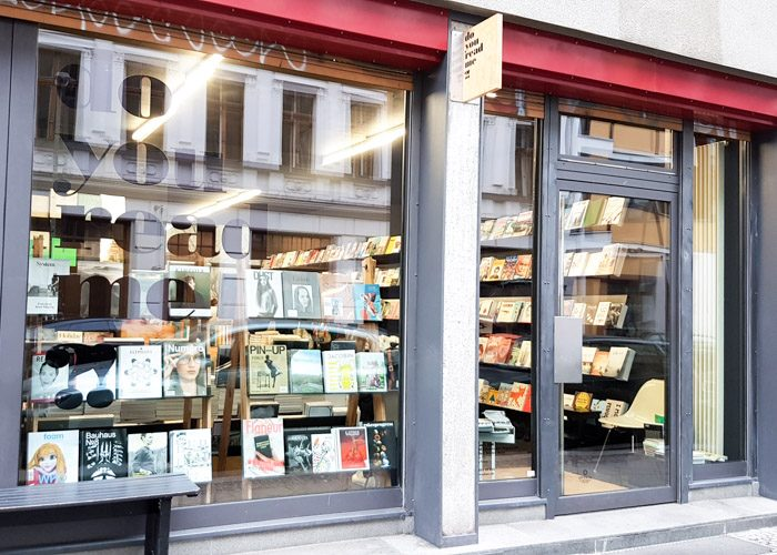 Exterior of Do You Read Me, which is mostly glass and displays a range of their most popular books