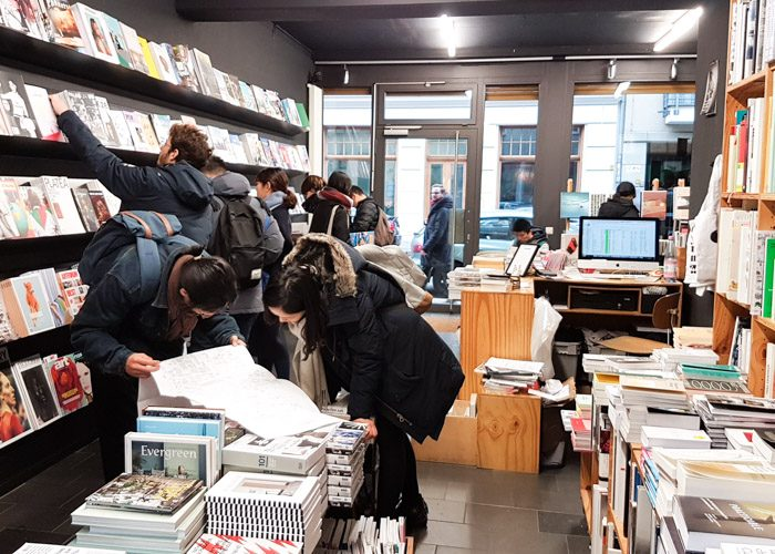 A number of people browsing the shelves at Do You Read Me bookshop