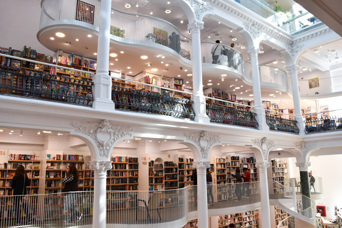 Carturesti Carusel, one of the most beautiful bookshops in Bucharest Romania.